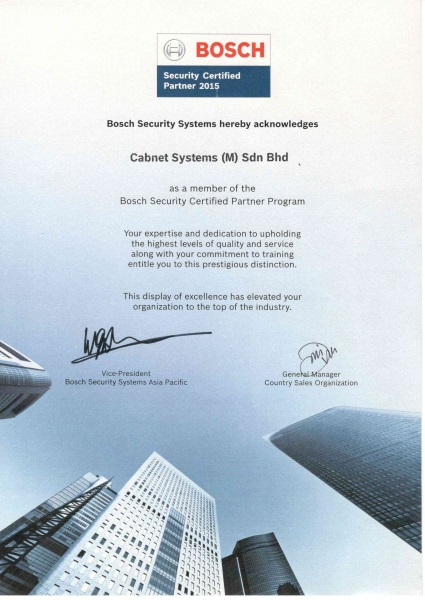 bosch security logo. bosch security certified partner cert logo